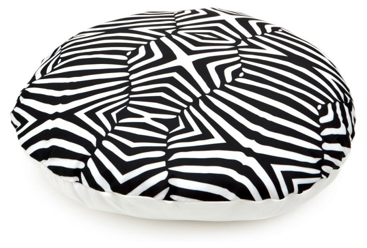 Round Zebra Print Dog Bed