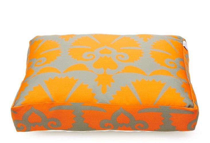 Mandwa Dog Bed, Gray/Orange