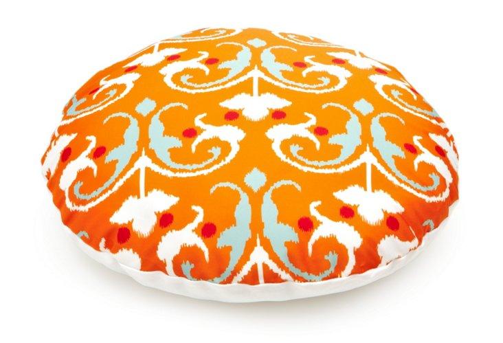 Round Leela Dog Bed, Orange
