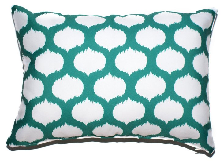 Ikat Circles 14x20 Pillow, Teal