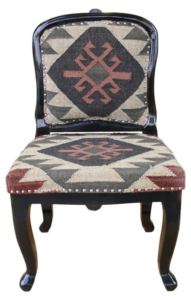 Tristan Kilim-Upholstered Chair, Multi