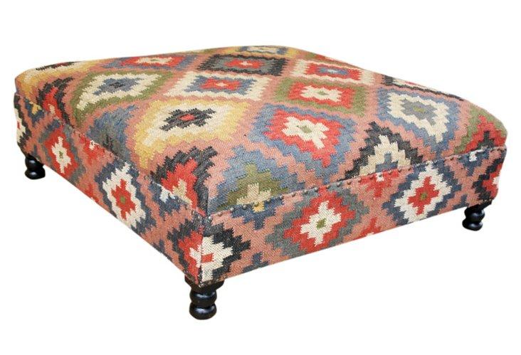 Amelia Kilim Upholstered Storage Ottoman