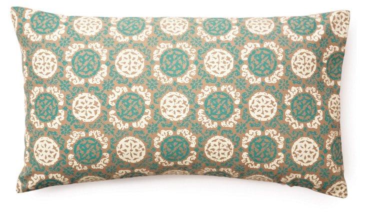 Medallion 14x24 Cotton Pillow, Multi