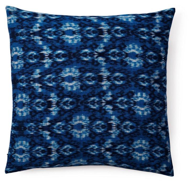 Midnight Ikat 20x20 Pillow, Indigo