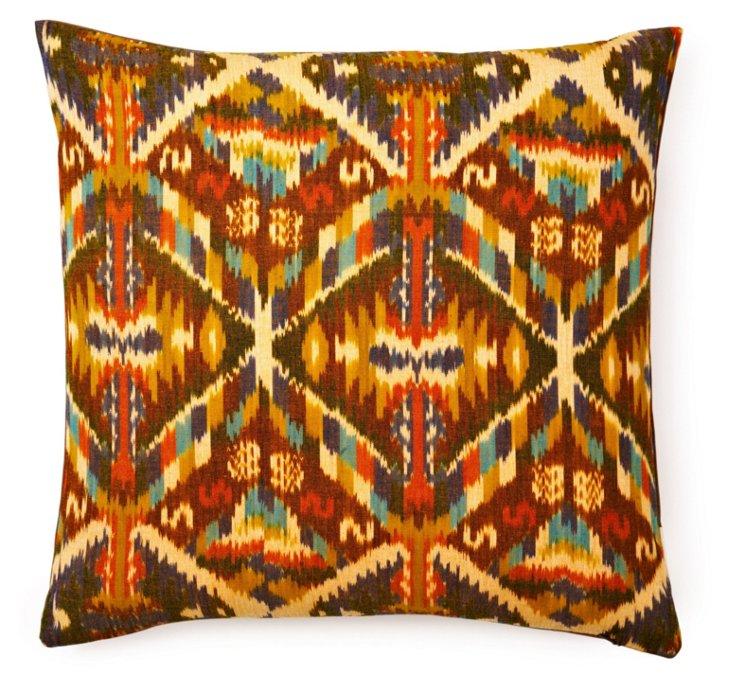 Kirby 20x20 Cotton Pillow, Brown