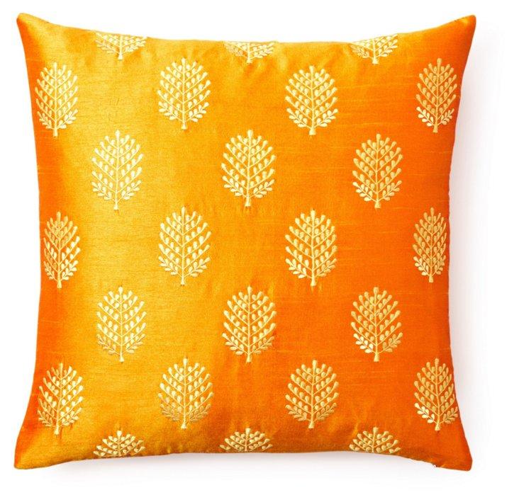Henna 20x20 Pillow, Orange