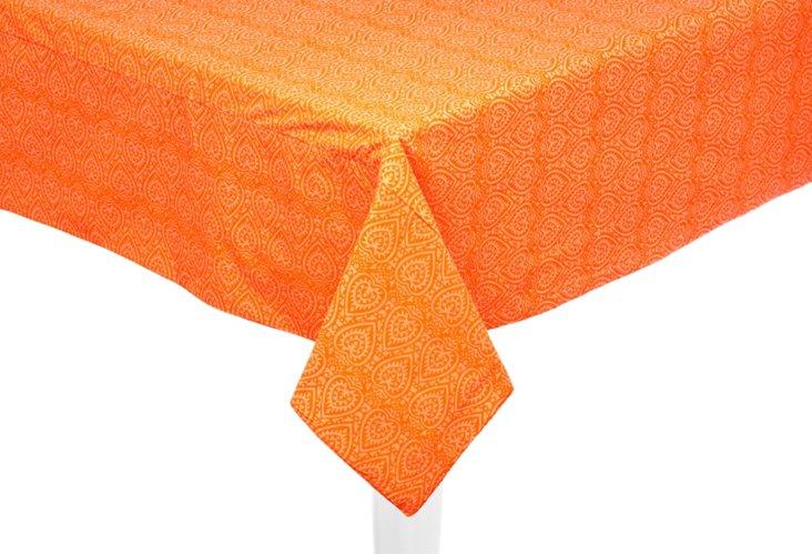 "Orange Catalina Tablecloth, 50"" x 50"""