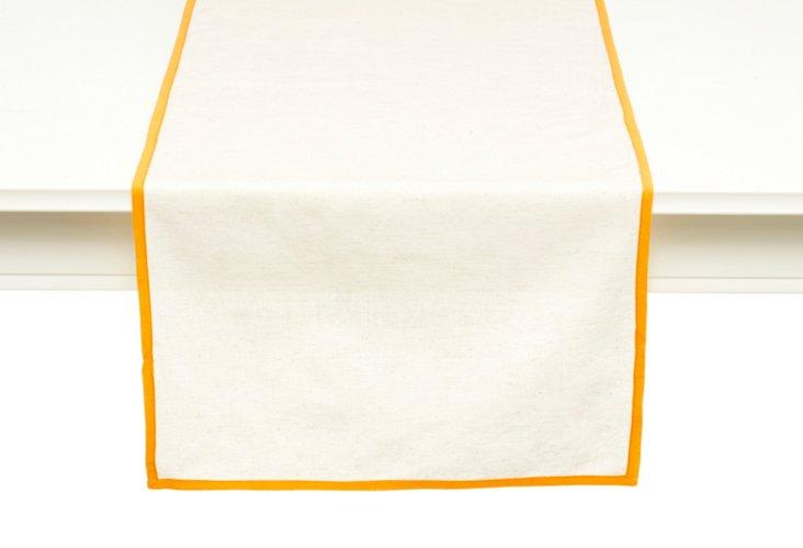Flax Linen Runner, Orange