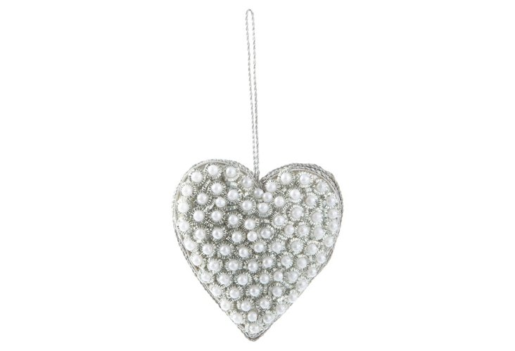 Pearl Heart Ornament