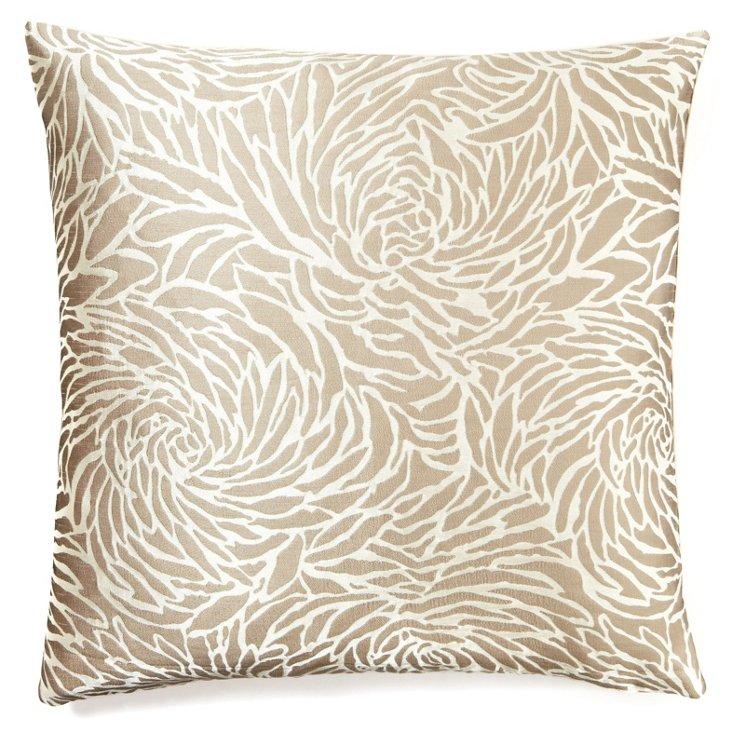 Jardin 20x20 Pillow, Taupe