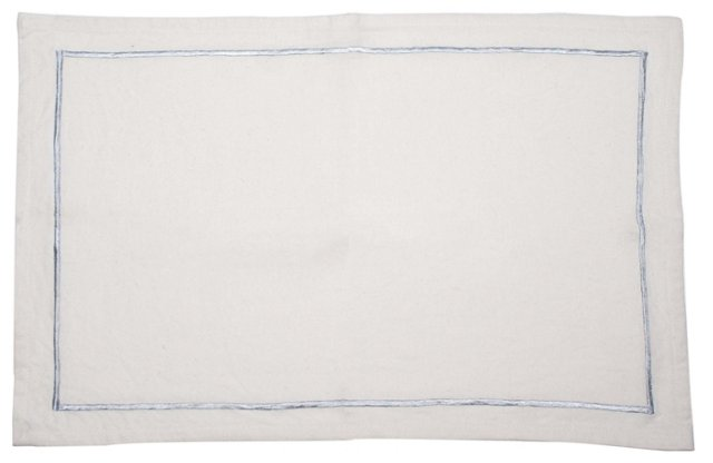 S/4 Bordered Place Mats, Silver