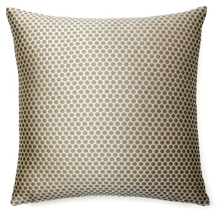 Les Pois 20x20 Pillow, Taupe