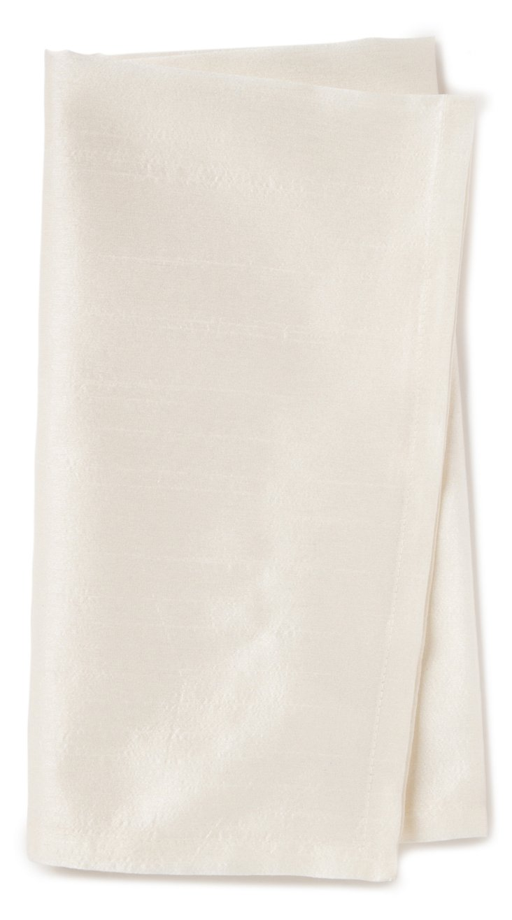 S/4 Lucent Napkins, Ivory