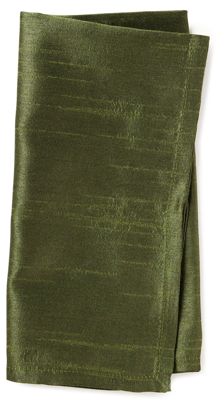 S/4 Lucent Napkins, Green