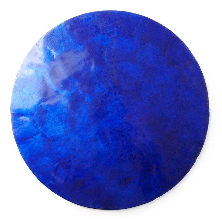 Capiz Shell Place Mat, Blue