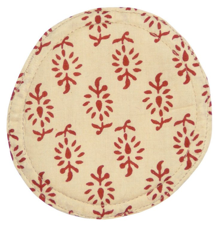 S/4 Liz Coasters, Red