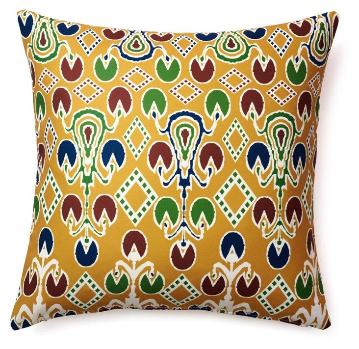 Damask 18x18 Cotton Pillow, Multi