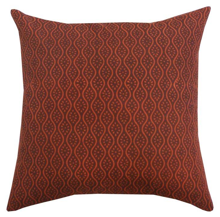 Indian Motif 20x20 Pillow, Burgundy