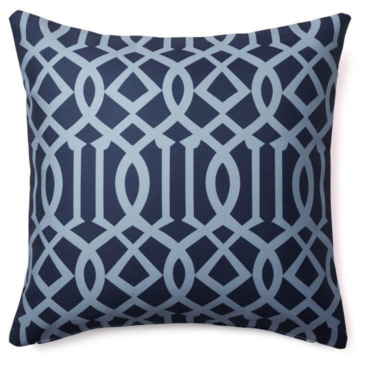 Variance 20x20 Outdoor Pillow, Navy