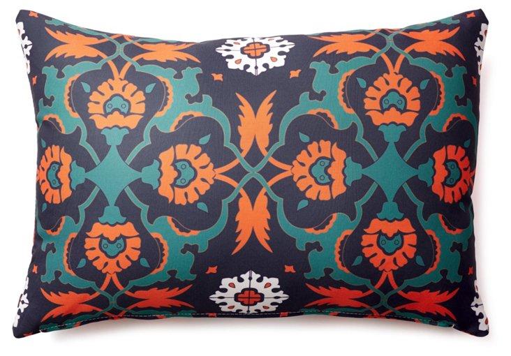 Kaleidoscope 14x20 Outdoor Pillow, Blue