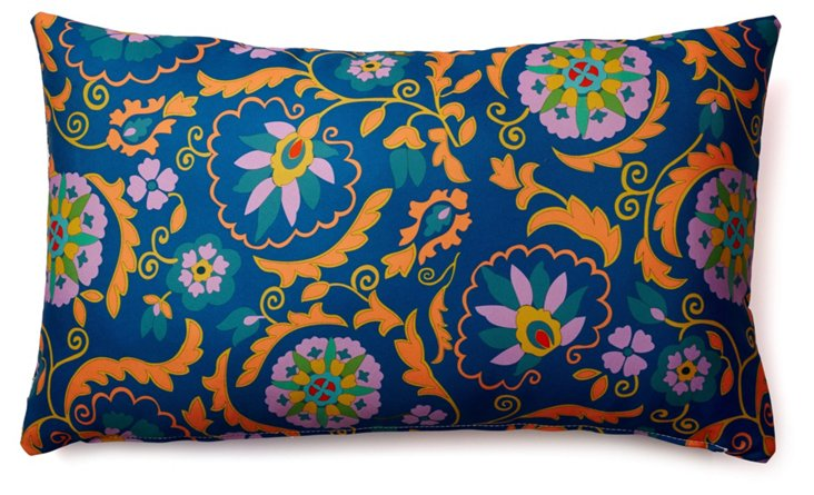 Lively 14x24 Outdoor Pillow, Navy