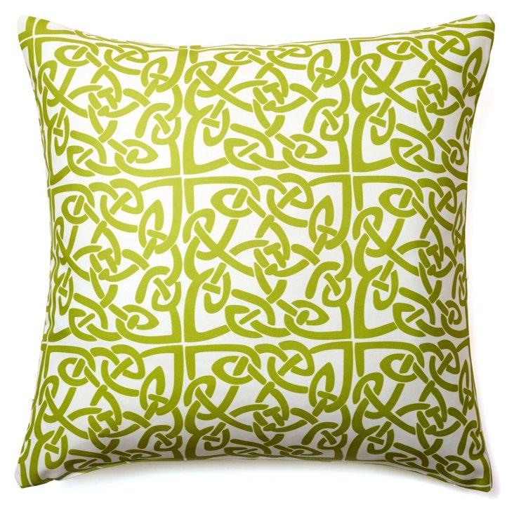 Celtic 20x20 Outdoor Pillow, Green