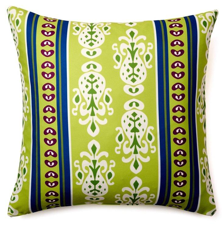 Regina 20x20 Outdoor Pillow, Green