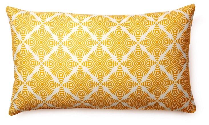 Sonar 14x24 Outdoor Pillow, Yellow