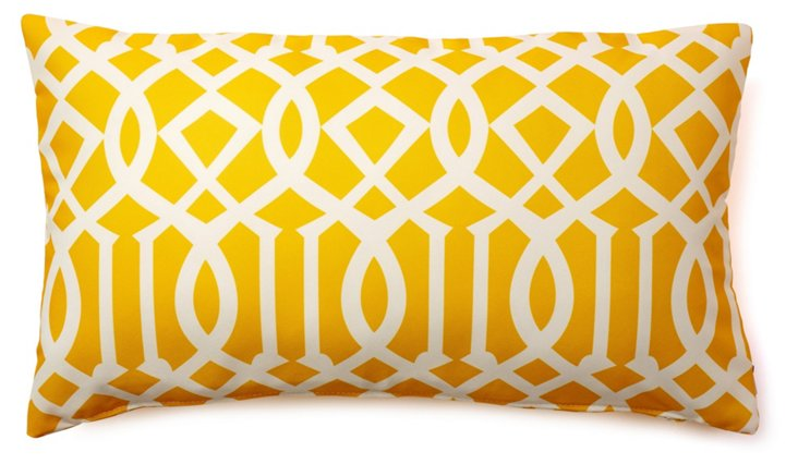 Variance 14x24 Outdoor Pillow, Yellow
