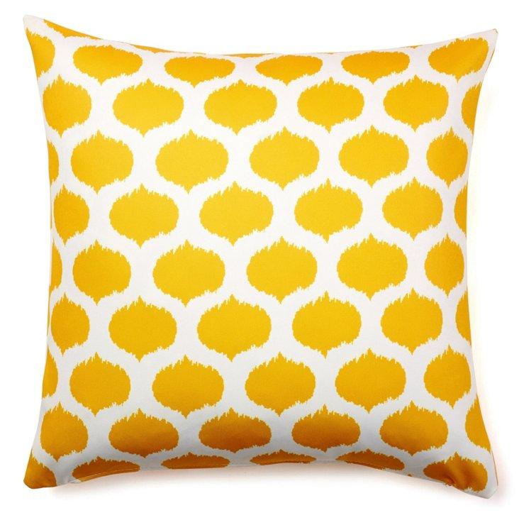 Dot 20x20 Outdoor Pillow, Yellow
