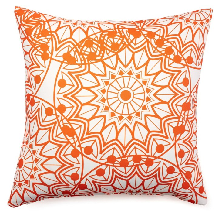Ferris 20x20 Outdoor Pillow, Orange
