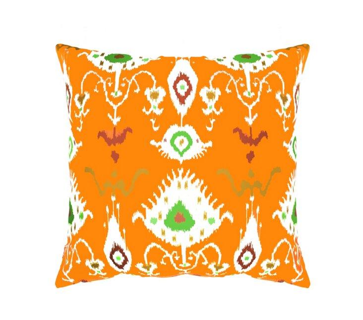 Ikat 20x20 Outdoor Pillow, Orange