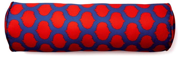 Dot 7x24 Outdoor Pillow, Red/Blue