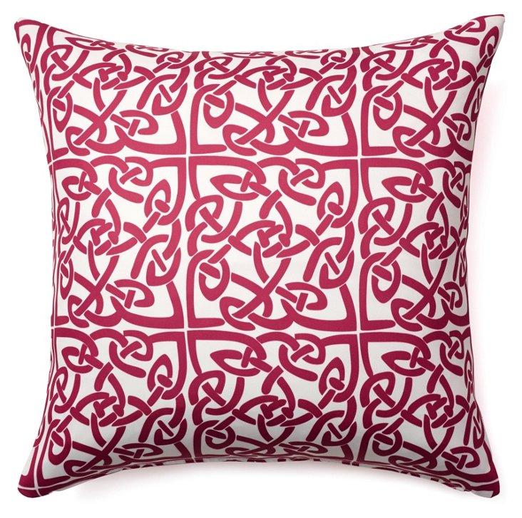 Celtic 20x20 Outdoor Pillow, Berry
