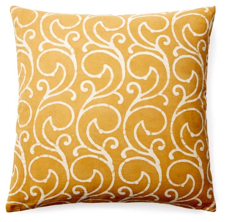 Mela 20x20 Cotton Pillow, Yellow