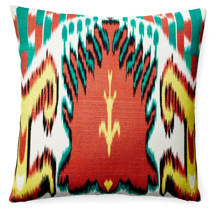 Leela 20x20 Cotton Pillow, Multi