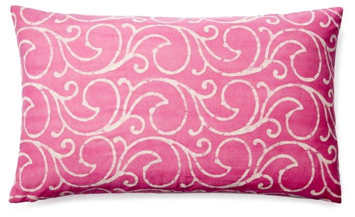 Mela 14x24 Cotton Pillow, Pink