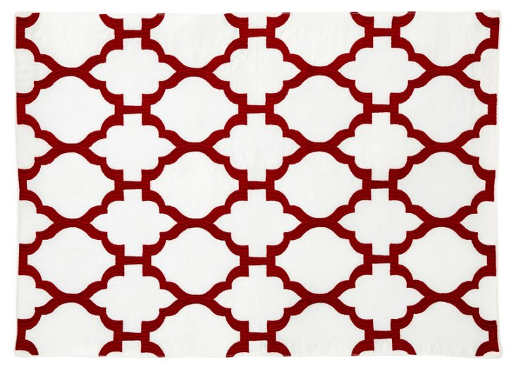 S/4 Casablanca Place Mats, Red