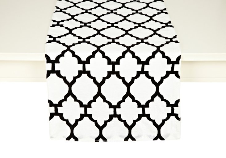 Casablanca Table Runner, Black