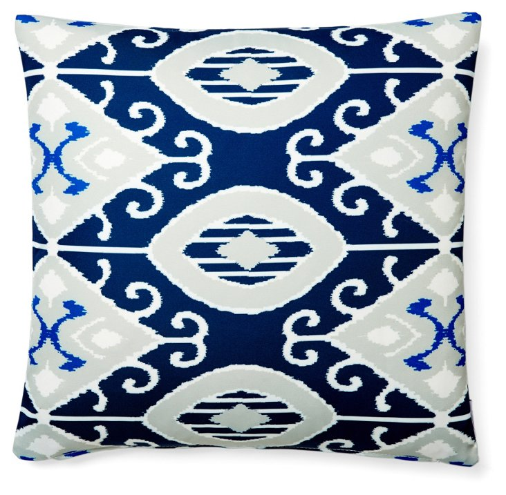 Eva 20x20 Outdoor Pillow, Navy