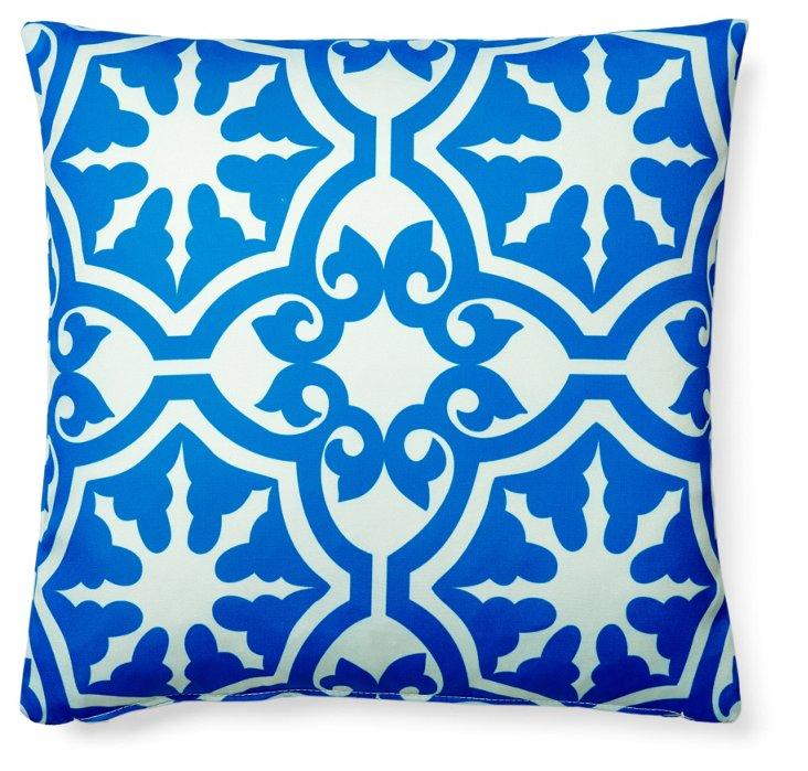 Athos 20x20 Outdoor Pillow, Blue