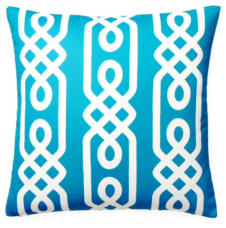 Aegean 20x20 Outdoor Pillow, Aqua