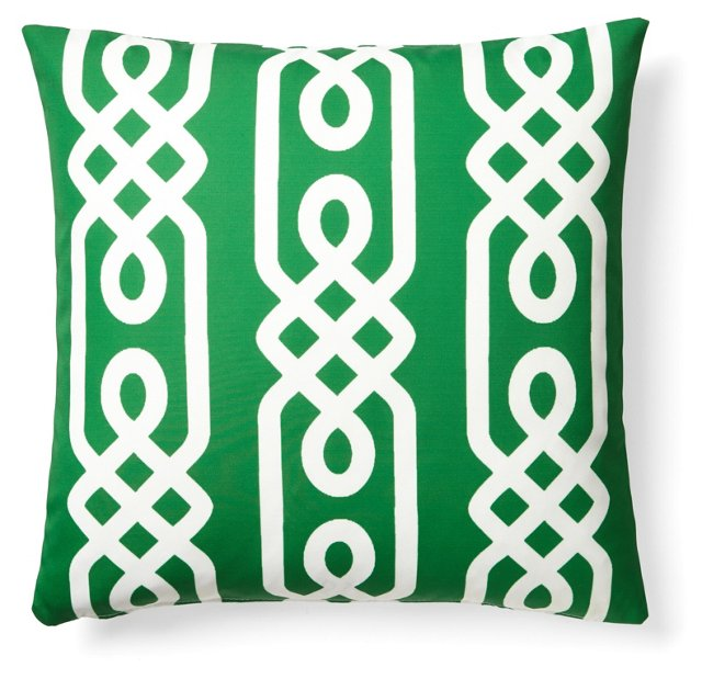 Aegean 20x20 Outdoor Pillow, Green