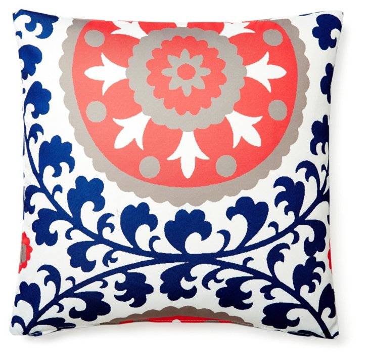 Ameena 20x20 Outdoor Pillow, Blue