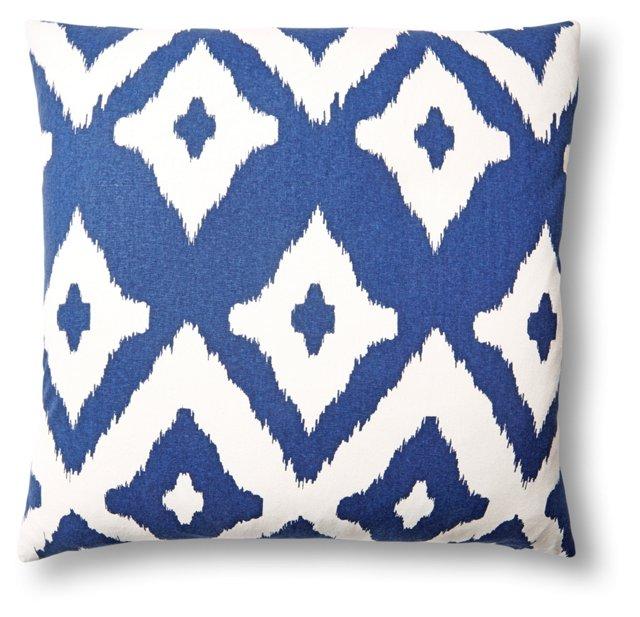 Del Mar 20x20 Cotton Pillow, Navy