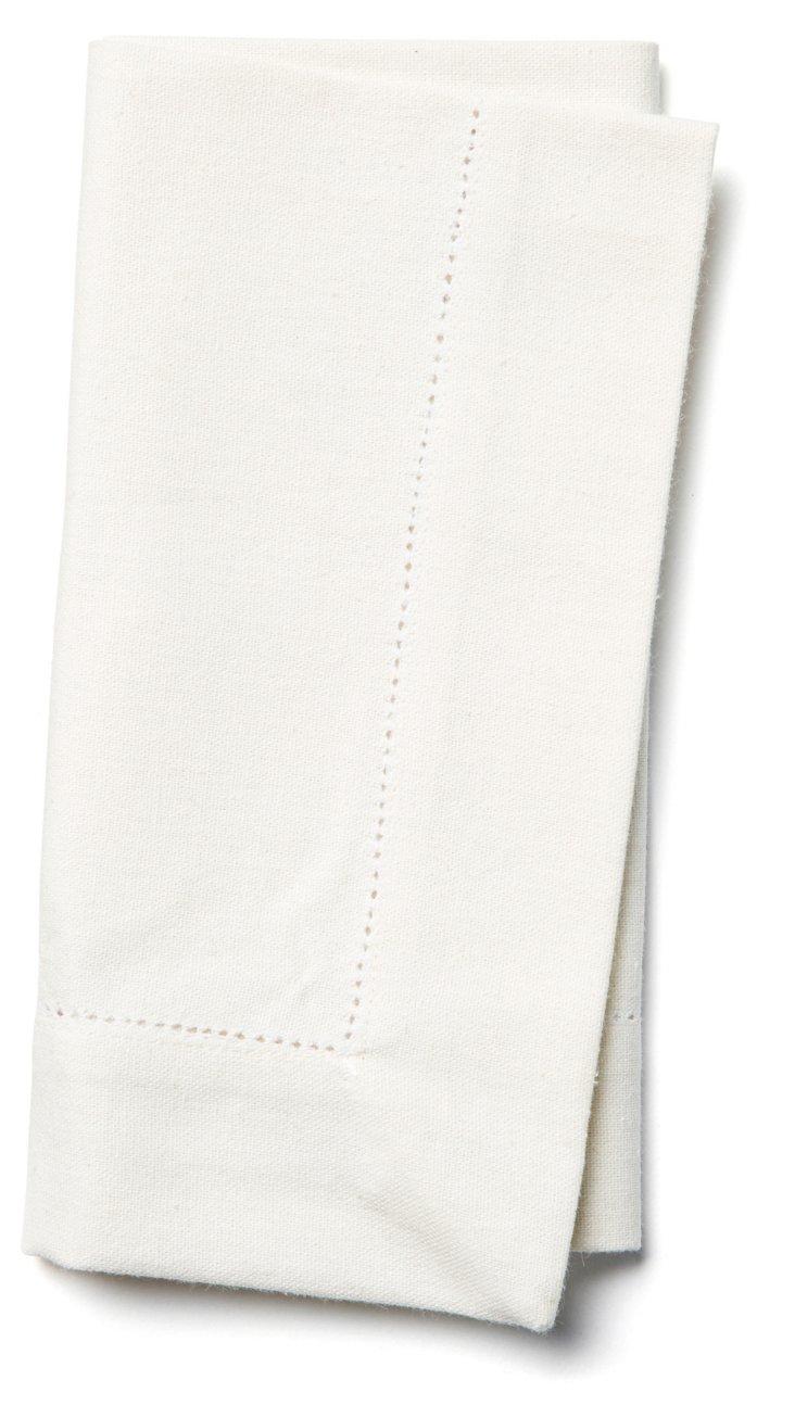 S/4 Hemstitch Napkins, White