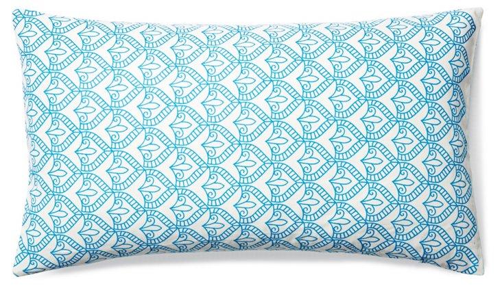 Pismo 14x24 Cotton Pillow, Aqua