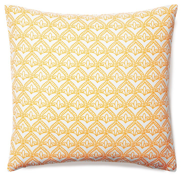 Pismo 20x20 Cotton Pillow, Tangerine
