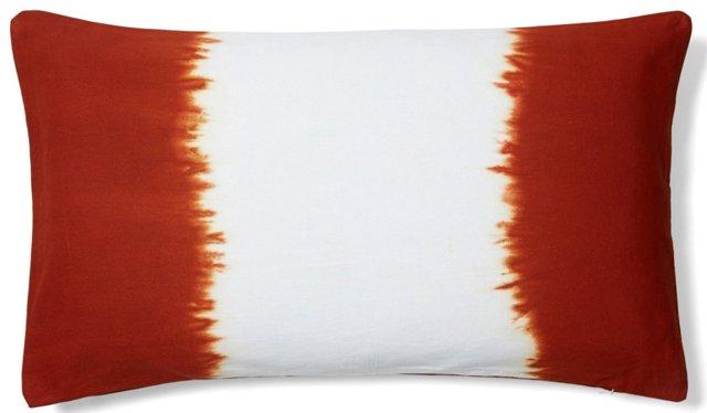 Tie-Dye 14x24 Cotton Pillow, Orange