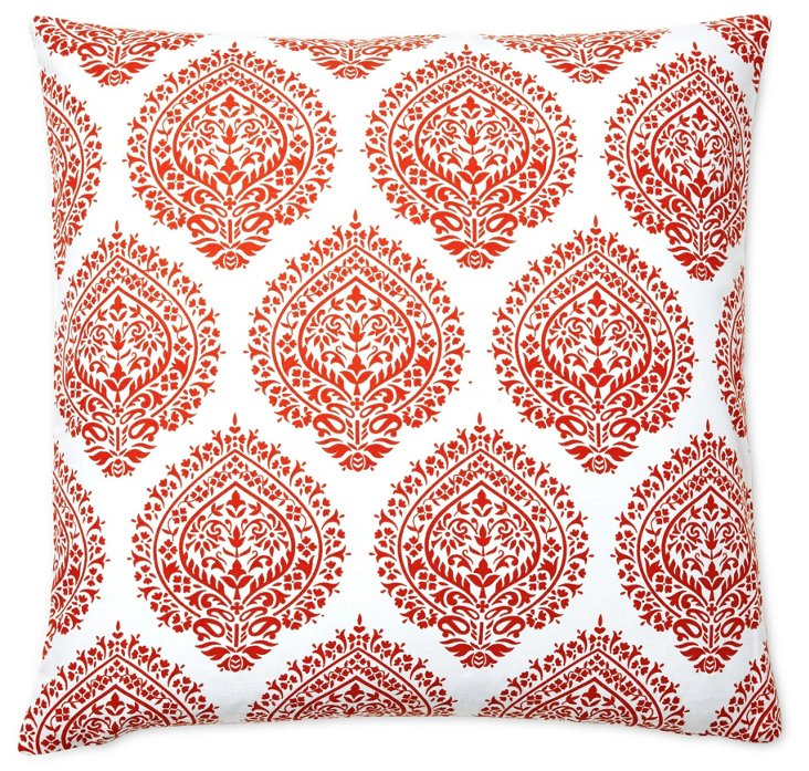 Falguni 20x20 Cotton Pillow, Orange